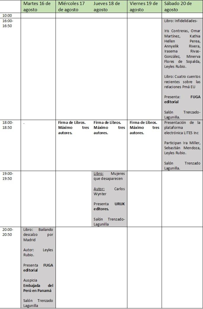 Programa FUGA FIL Pma 2016